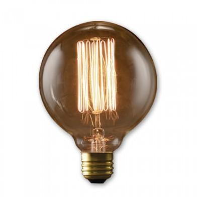 Bulbrite 342040 - 40 Watt - Antique Bulb - G30 Clear - 5.125 Inch Long - Medium E26 Base - Thread Filament - 6 Packs