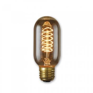 Bulbrite 134014 - 40 Watt - Antique Bulb - T14 Clear - 4.25 Inch Long - Medium E26 Base - Spiral Filament - 10 Packs