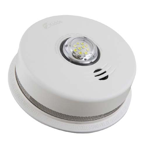 Kidde P4010ACLEDSCOCA  - 120V AC Integrated 3-in-1 LED Strobe and 10-year Talking Smoke & CO Alarm - Sealed 3V Lithium Battery Backup