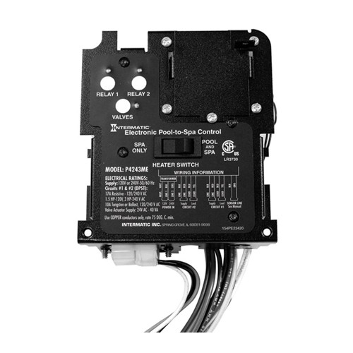 Intermatic P4243ME - 2-Circuit and Valve Actuator Controller for Pool/Spa Combinations