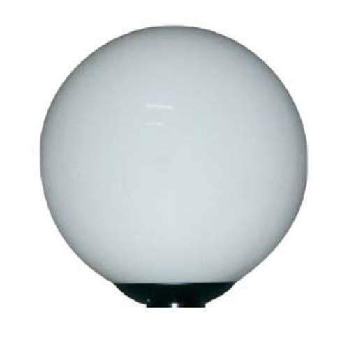 RAB Design PTA-12 BLK /WH ACRYL GLB - 12'' PTA Acrylic Globe Assemble - White Globe - Medium Base - 5.25'' Opening
