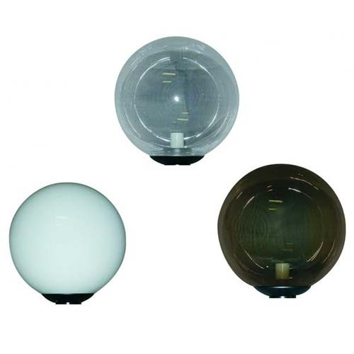 RAB Design PTL10-CL 10 PC-GLB - 10'' PTL Polycarbonate Globe Assemblie - Clear Globe - Medium Base - 5.25'' Opening
