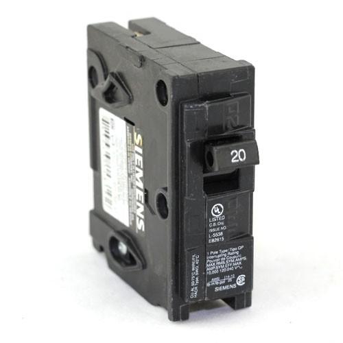 Siemens Q120 - Plug In Circuit Breaker - 1-Pole - 120/240VAC - 20 Amp - Thermal Magnetic Type