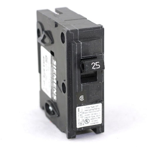 Siemens Q125 - Type QP Plug In Circuit Breaker - 1-Pole - 120/240VAC - 25 Amp - Thermal Magnetic Type