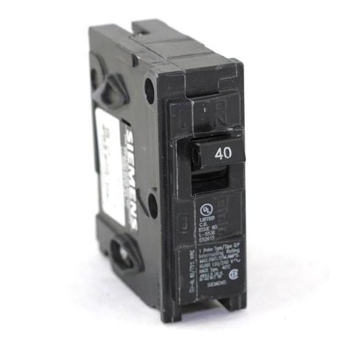 Siemens Q140 - Type QP - Plug In Circuit Breaker, 1-Pole, 120/240VAC, 40 Amp, Thermal Magnetic Type