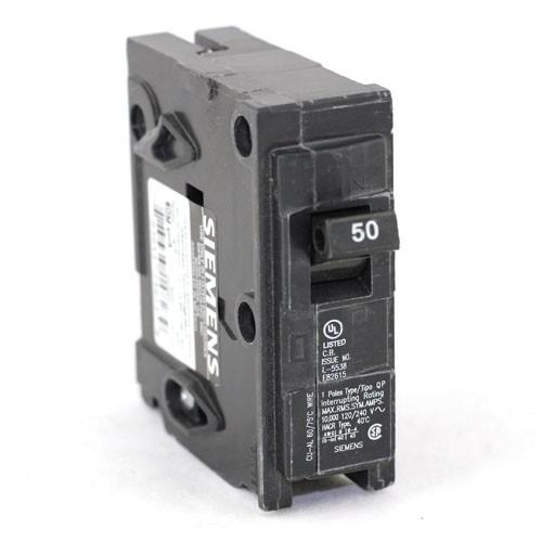 Siemens Q150 - Type QP - Plug In Circuit Breaker -1-Pole - 120/240VAC - 50 Amp - Thermal Magnetic Type