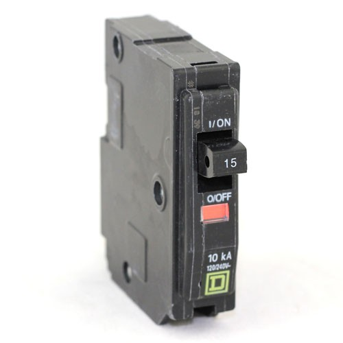 Square D - QO115 - Plug In Circuit Breaker - 1-Pole -120VAC - 15 Amp - Thermal Magnetic