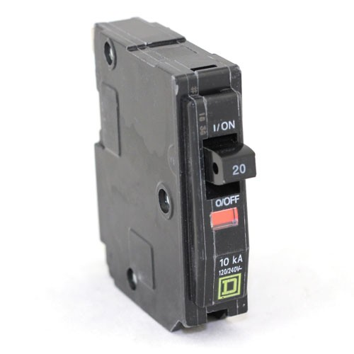 Square D - QO120 - Plug In Circuit Breaker - 1-Pole -120/240VAC - 20 Amp - Thermal Magnetic