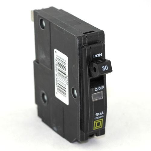 Square D - QO130 - Plug In Circuit Breaker - 1-Pole -120/240VAC - 30 Amp - Thermal Magnetic