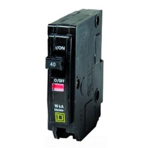 Square D - QO140 - Plug In Circuit Breaker - 1-Pole -120/240VAC - 40 Amp - Thermal Magnetic