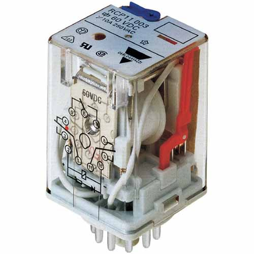 Carlo Gavazzi RCP8002115/120VAC - Industrial Relay RCP 8 Pin DPDT 10Amp - 115/120V AC Coil