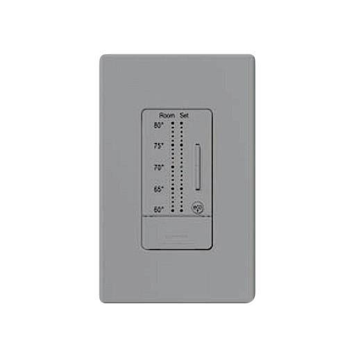 Lutron RKD-WST-F-GR - Comfort Controls - SeeTemp TM Wall Display - Color Change Kit (°F) - Designer - Gray