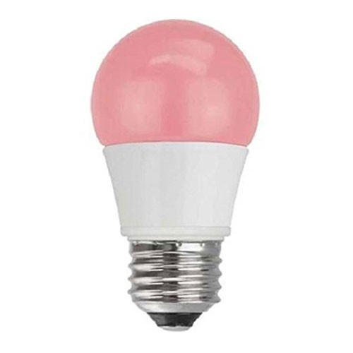 TCP RLA155P - LED A15 - 5W - 120V - 25,000 Hours Life - Non Dimmable - 40W Equal - Pink - E26 Base Type - 4 Packs