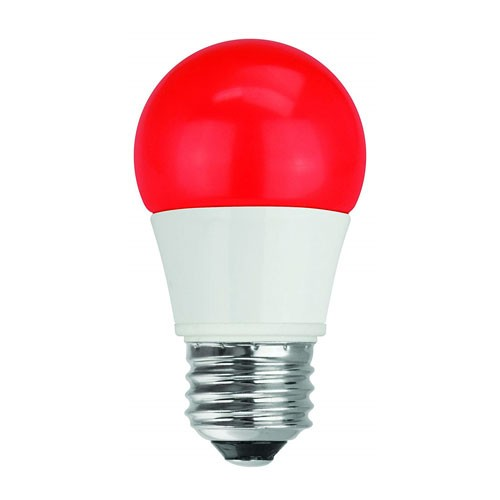 TCP RLA155RD - LED A15 - 5W - 120V - 25,000 Hours Life - Non Dimmable - 40W Equal - Red - E26 Base Type - 4 Packs