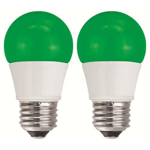 TCP RLAS155WGR236 LED A15 - 40 Watt Equivalent (5W) Green Light Bulb - 2 Pack