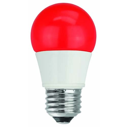 TCP RLAS155WRD LED A15 - 40 Watt Equivalent (5W) RED Colored Light Bulb