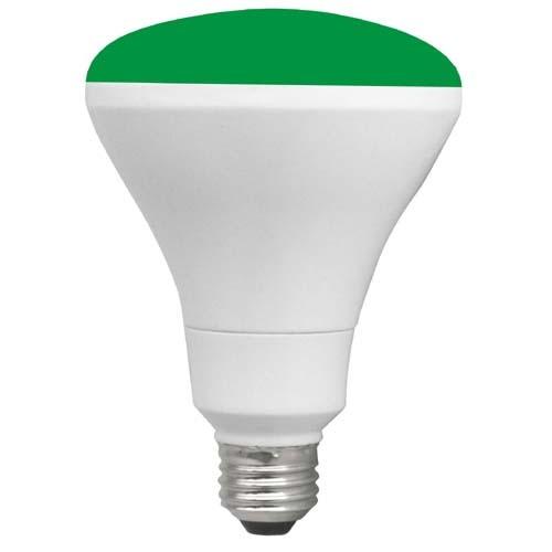 TCP RLBR3010WGR - 10W - LED Colored BR30 - 65 Watt Equivalent - Green - 6 Packs