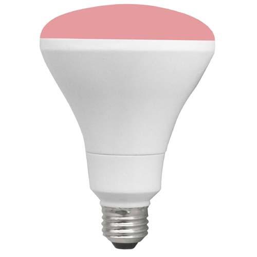 TCP RLBR3010WP 10W LED Colored BR30 - 65 Watt Equivalent BR30 Flood Light - PINK
