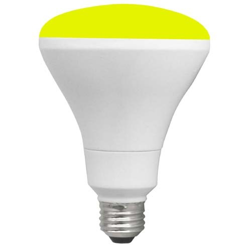 TCP RLBR3010WY - 10W - LED Colored BR30 - 65 Watt Equivalent - Yellow - 6 Packs