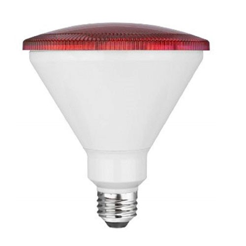 TCP RLP3814RD - LED PAR38  - 14W - 120V - 25,000 Hours Life - Non Dimmable - 90W Equal - Red - 4 Packs