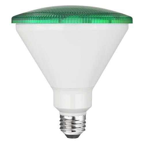 TCP RLP3817WGR 17W LED Colored PAR38 - 90 Watt Equivalent PAR Flood Light - GREEN