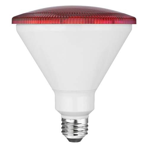 TCP RLP3817WRD 17W LED Colored PAR38 - 90 Watt Equivalent PAR Flood Light - RED