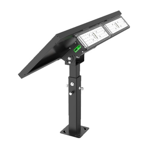 RP-SFL-20W-40K-BK-G1 - 20W LED Solar Flood Light - 2000 Lumens - 4000K Cool White - Comparable to 150W - Dimmable