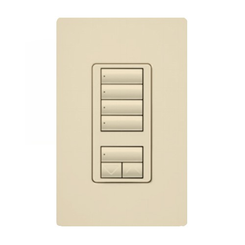 Lutron - RRD-W4S-IV - RadioRA 2 Wall-mount Designer keypad - 4-scene with raise/lower  - Ivory