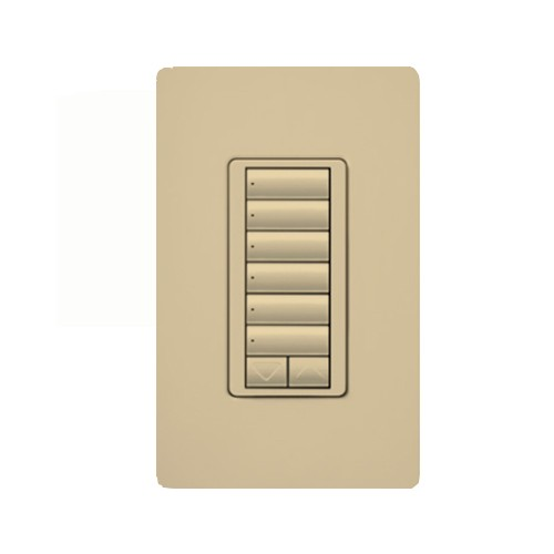Lutron RRD-HN6BRL-IV - RadioRA 2 C•L Hybrid keypad - 6-button with raise/lower - Max rating is 100W approved LED/CFL - 450W incandescent/Halogen/MLV - Ivory