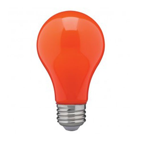 Satco S14988 - 8 Watt - A19 LED - Medium Base - 120V - Ceramic Orange - Dimmable - 24 Packs