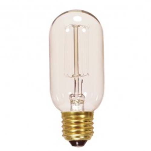 Satco S2417 - 40 Watt - T14 Incandescent - Clear - 3000 Average rated Hours - 160 lumens - Medium base - 120V - 10 Packs
