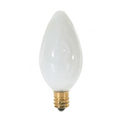 Satco S2772 - 25 Watts - 120V - F10 Incandescent - Candelabra Base - Dimmable - White - 185 Lumens - 24 Packs