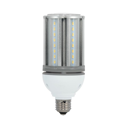 Satco S29670 - High Lumen Industrial/Commercial LED Lamps - 18W - 100-277V - 2700K Warm White - 2200 Lumens - Medium base - 300 Deg Beam Spread - White Finish - Non-Dimmable