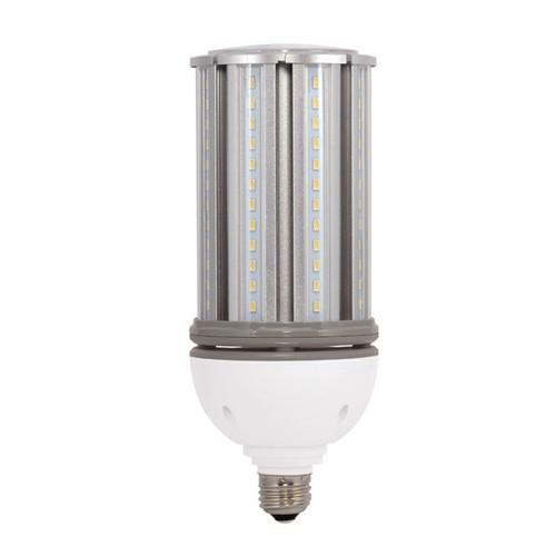 Satco S29672 - High Lumen Industrial/Commercial LED Lamps - 36W - 100-277V - 2700K Warm White - 4390 Lumens - Medium base - 300 Deg Beam Spread - White Finish - Non-Dimmable