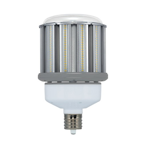 Satco S29675 - High Lumen Industrial/Commercial LED Lamps - 80W - 100-277V - 4000K Cool White - 10400 Lumens - Mogul Extended base - 300 Deg Beam Spread - White Finish - Non-Dimmable