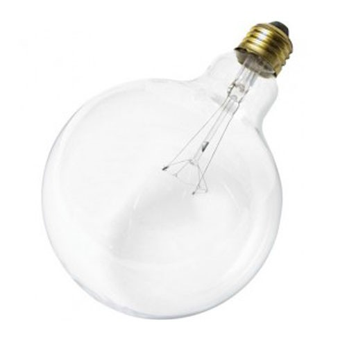 Satco S3010 - 25W - 120V - G40 Incandescent - Medium Base - Dimmable - Clear - 120 Lumens - 24 Packs