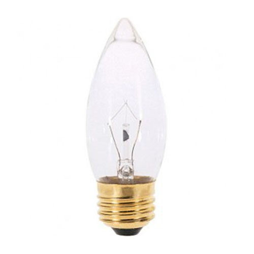 Satco S3231 - Incandescent - 25W - 120V - B11 - Medium Base - Clear - CC-2V Filament - 210 Lumens - Dimmable - 25 Packs