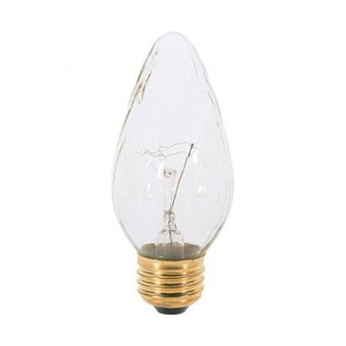 Satco S3367 - Incandescent - 40W - 120V - F15 - Medium Base - Clear - CC-9 Filament - 350 Lumens - Dimmable - 25 Packs