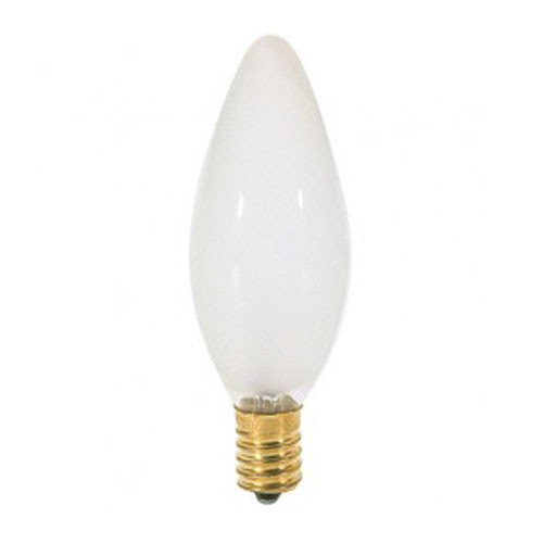 Satco S3380 - Incandescent - 25W - 120V - BA9 1/2 - European Base - Frost - CC-2V Filament - 220 Lumens - Dimmable - 25 Packs