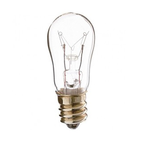 Satco S7812 - 12W - 250V - S6 Incandescent - Candelabra Base - Clear - C-7A Filament - 30 Lumens - Dimmable - 10 Packs