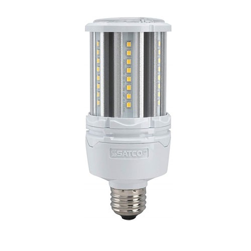 Satco S39390 - High-Pro Industrial/Commercial LED Lamps - 18W - 100-277V - 5000K Natural Light - 2520 Lumens - Medium Base - 300 Deg Beam Spread - White Finish - Non-Dimmable