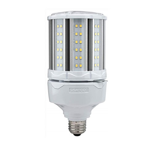 Satco S39672 - High-Pro Industrial/Commercial LED Lamps - 36W - 100-277V - 2700K Warm White - 4680 Lumens - Medium Base - 300 Deg Beam Spread - White Finish - Non-Dimmable
