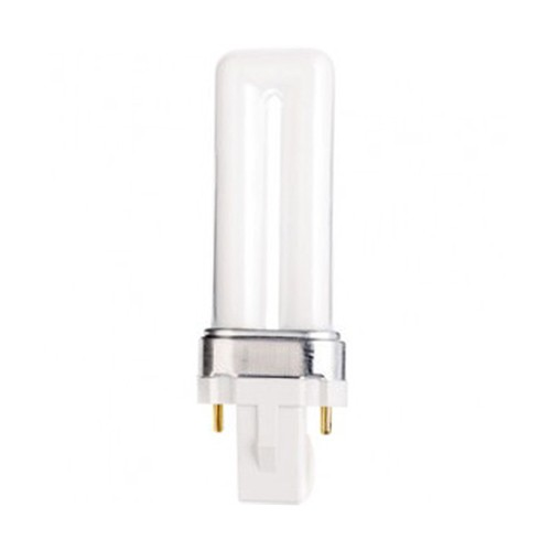 Satco S8302 - 7W - T4 Pin-Based Compact Fluorescent - G23 Base - 400 Lumens - 2700K - 82 CRI - 50 Packs