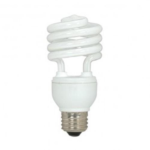 Satco S7417 - 230V - 18W - T2 Mini Spiral Compact Fluorescent - Medium Base - 1200 Lumens - 5000K Natural Light - 82 CRI - 12 Packs