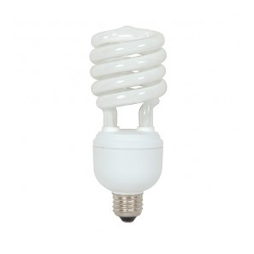 Satco S7424 - 277V - 32W - T4 Hi-Pro Spiral Compact Fluorescent - Mogul Base - 2000 Lumens - 4100K Cool White - 85 CRI - 12 Packs