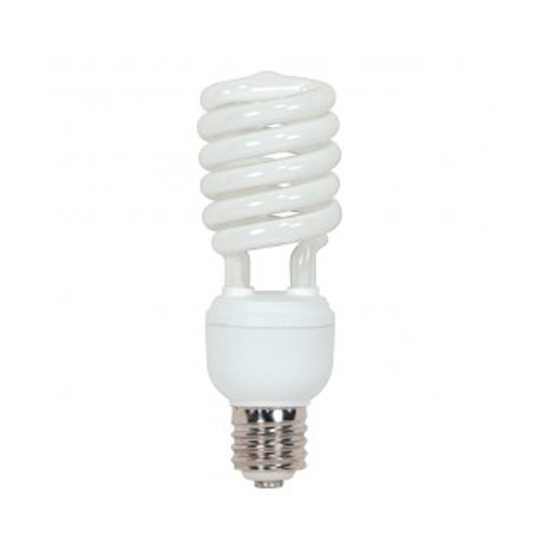 Satco S7428 - 277V - 40W - T4 Hi-Pro Spiral Compact Fluorescent - Mogul Base - 2600 Lumens - 4100K Cool White - 85 CRI - 12 Packs