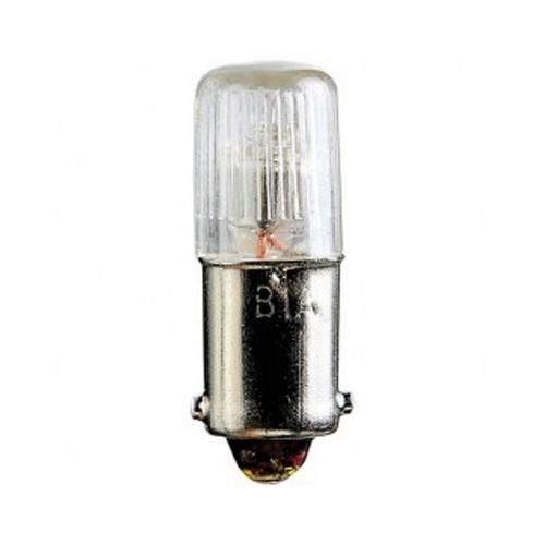 Satco S7801 - 0.14W - 120V - T3 1/4 Miniature - Miniature Bayonet Base - Neon Filament - Clear - 10 Packs
