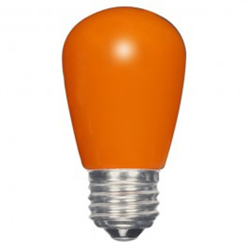 Satco S9173 - 1.4 watt - LED - S14 - 120 volts - Medium base (E26) - Ceramic Orange finish - 360 Deg. Beam Spread - Non-Dimmable - 12 Packs