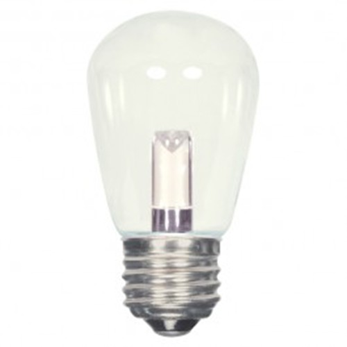 Satco S9174 - 1.4 watt - LED - S14 - 2700K Warm White - 120 volts - 36 Lumens - Medium base (E26) - Clear finish - 360 Deg. Beam Spread - Non-Dimmable - 12 Packs