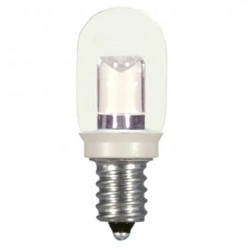 Satco S9177 - 0.8 watt - LED - T6 - Clear - 2700K - Candelabra base - 20 Initial Lumens - 120V